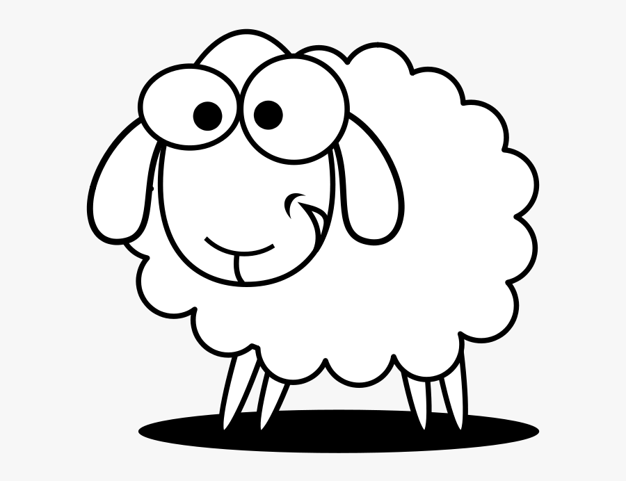 Christmas Sheep Clipart Black And White Library Techflourish - Sheep Face Clipart Black And White, Transparent Clipart