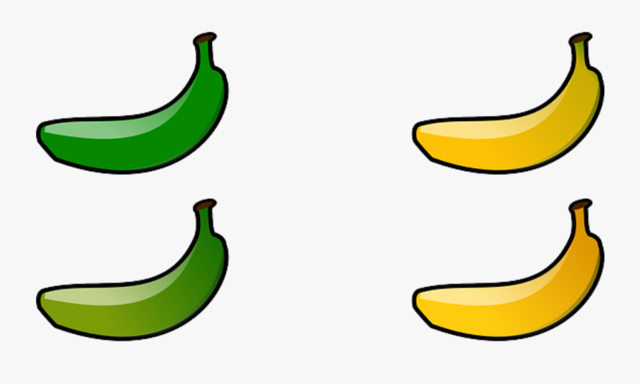 Transparent Banana Clip Art - Clipart Green Banana Png, Transparent Clipart