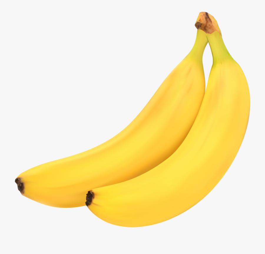Bananas Free Png Clip Art Image - Saba Banana, Transparent Clipart