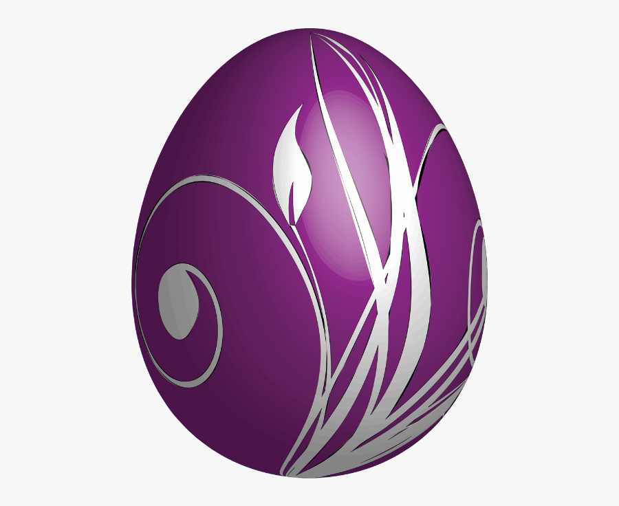 Large Egg Purple Easter Free Transparent Image Hd Clipart - Purple Easter Eggs Png, Transparent Clipart