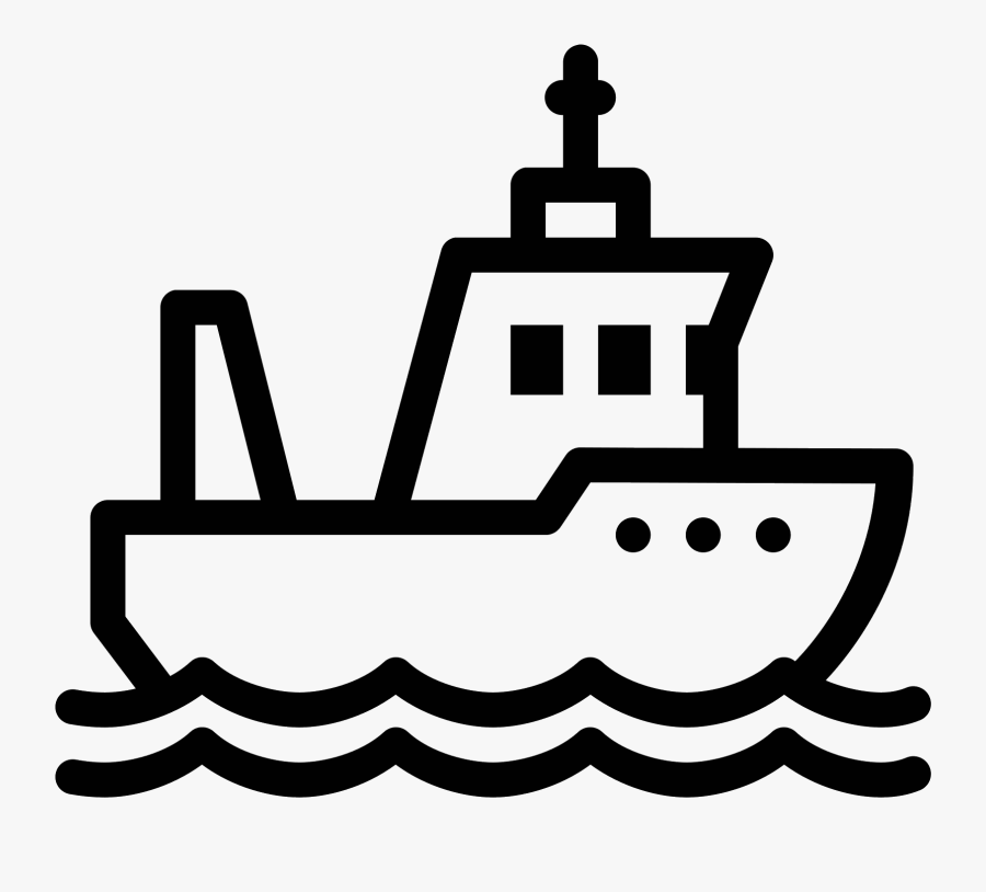 Svg Architecture Vector Icon - Fishing Boat Icon Png, Transparent Clipart