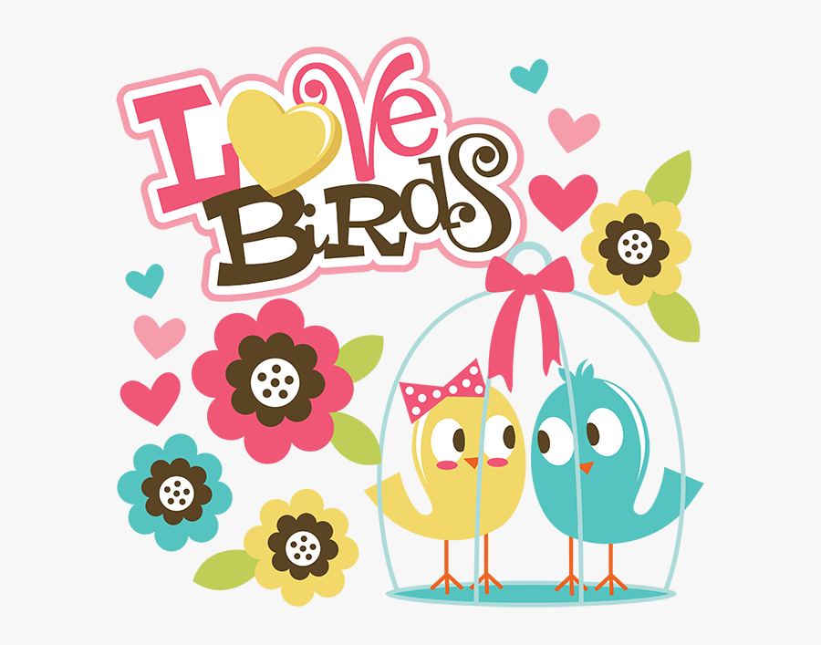 Transparent Love Birds Png - Miss Kate Cuttables Love, Transparent Clipart