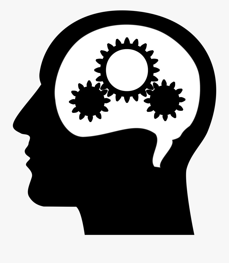 Free Of Thinking Brain Machine Vector Clipart - Black And White Brain Thinking, Transparent Clipart