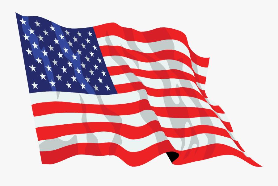 United States Flag Waving Icon - United States Flag Transparent Background, Transparent Clipart