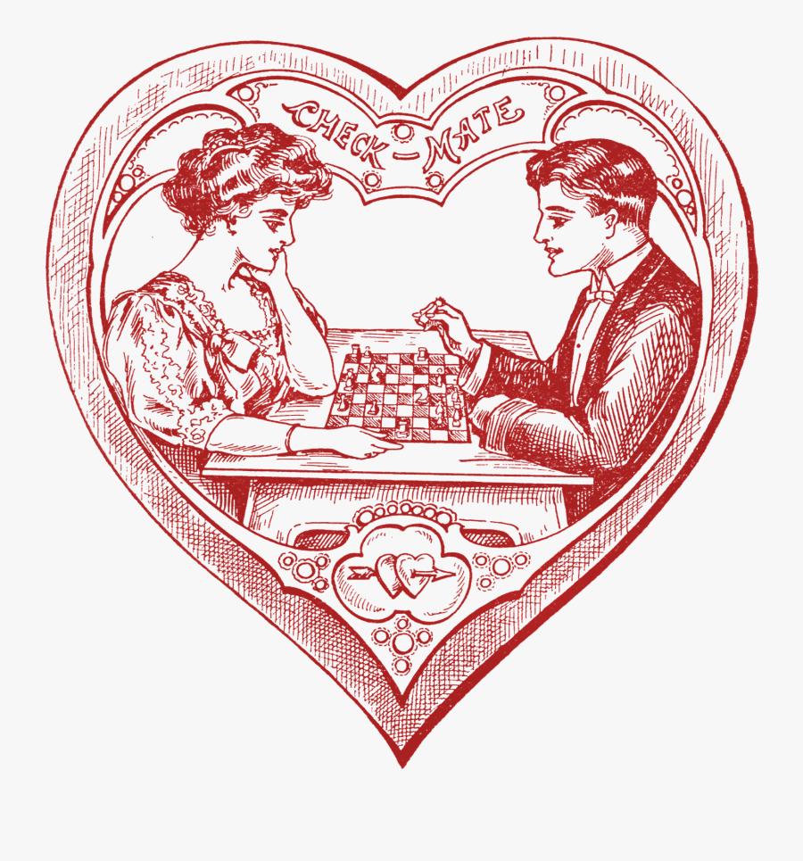 Happy Valentines Day Clipart Victorian - Valentine's Day, Transparent Clipart