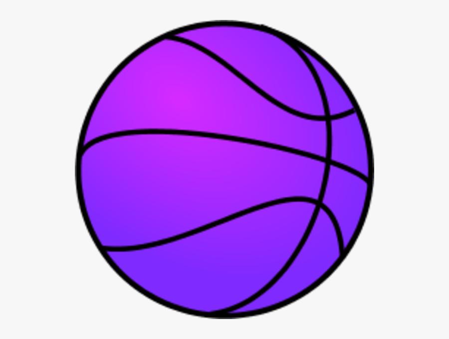 Purple Clipart Basketball - Basketball Clip Art, Transparent Clipart