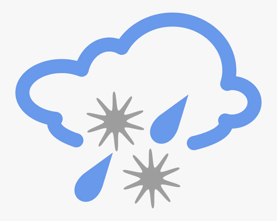 Rain Free On Dumielauxepices - Bbc Weather Symbols Hail, Transparent Clipart
