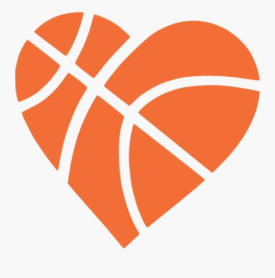 Heart Basketball Clipart - Free Basketball Heart Svg, Transparent Clipart