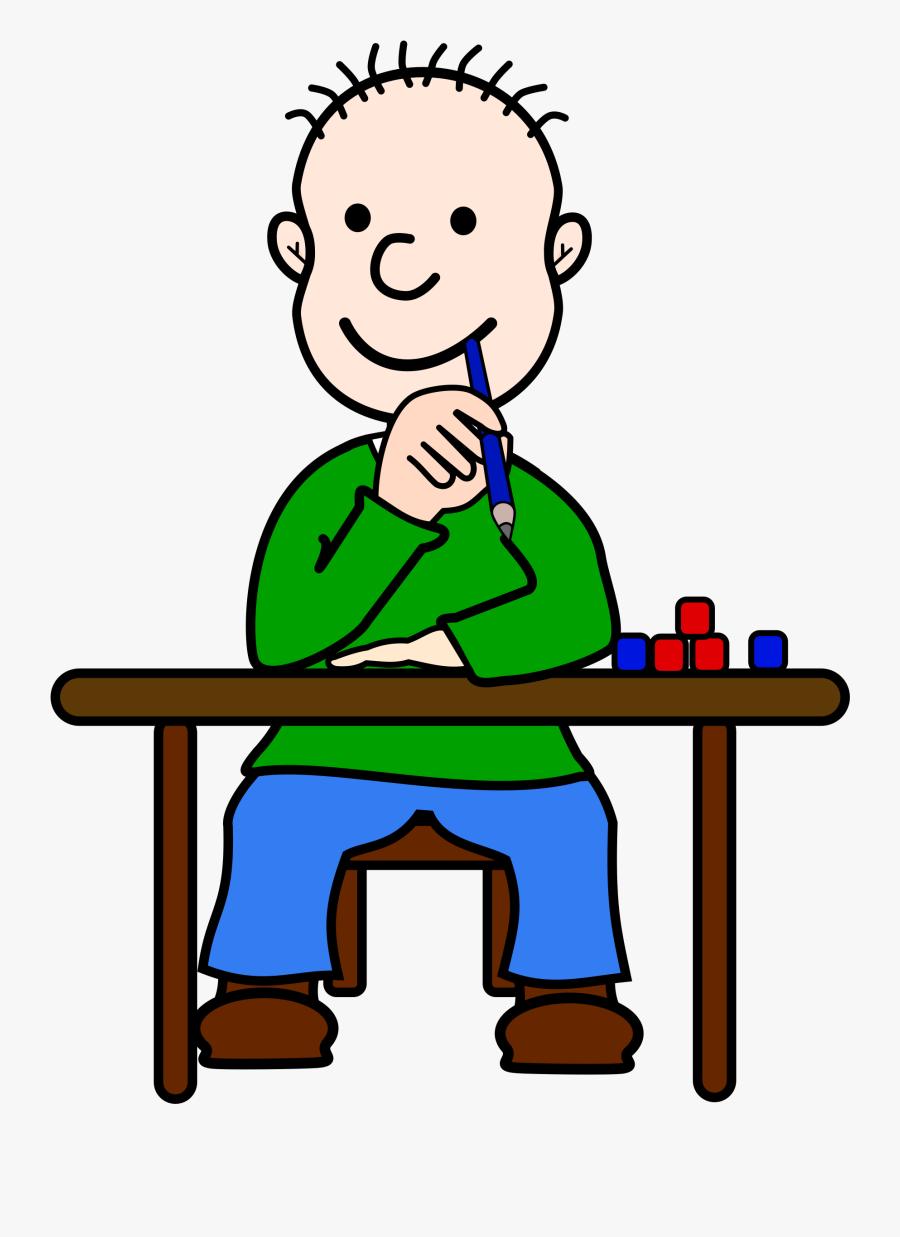 Boy Thinking Clipart Free Images - Kid Thinking Clipart Transparent, Transparent Clipart