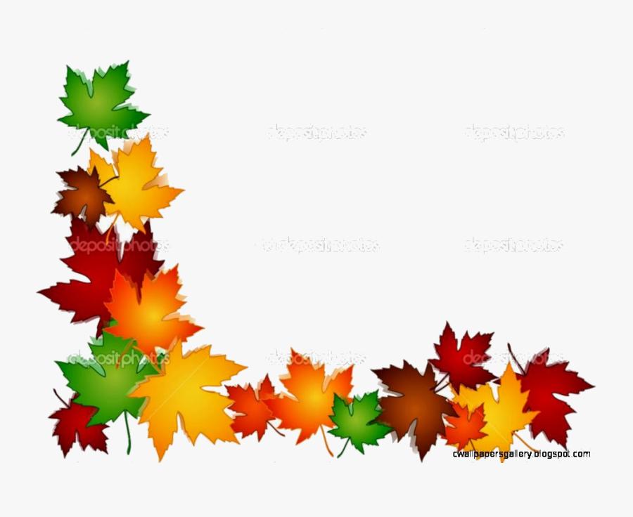 Transparent Fall Leaf Border Clipart - Autumn Leaves Border Clipart, Transparent Clipart