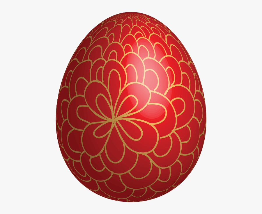 Red Clipart Easter Egg - Red Easter Eggs Clipart, Transparent Clipart