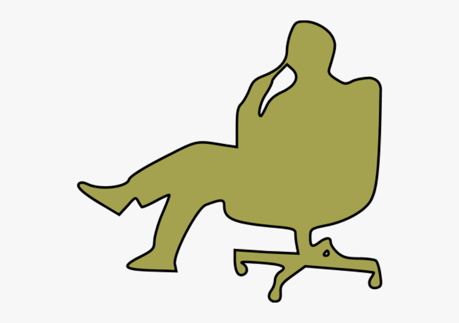 Man In Chair Thinking Clipart - Thinking Clip Art, Transparent Clipart