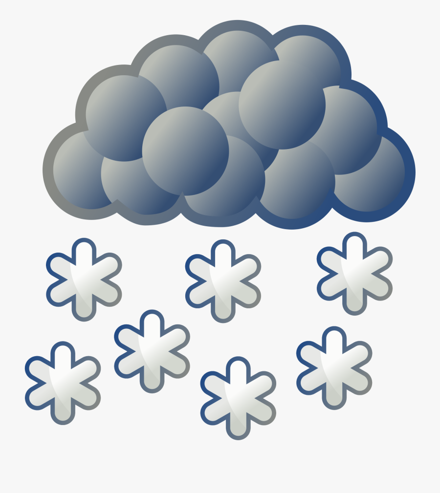 Weather Snow Clipart , Png Download - Heavy Rain Weather Symbol, Transparent Clipart