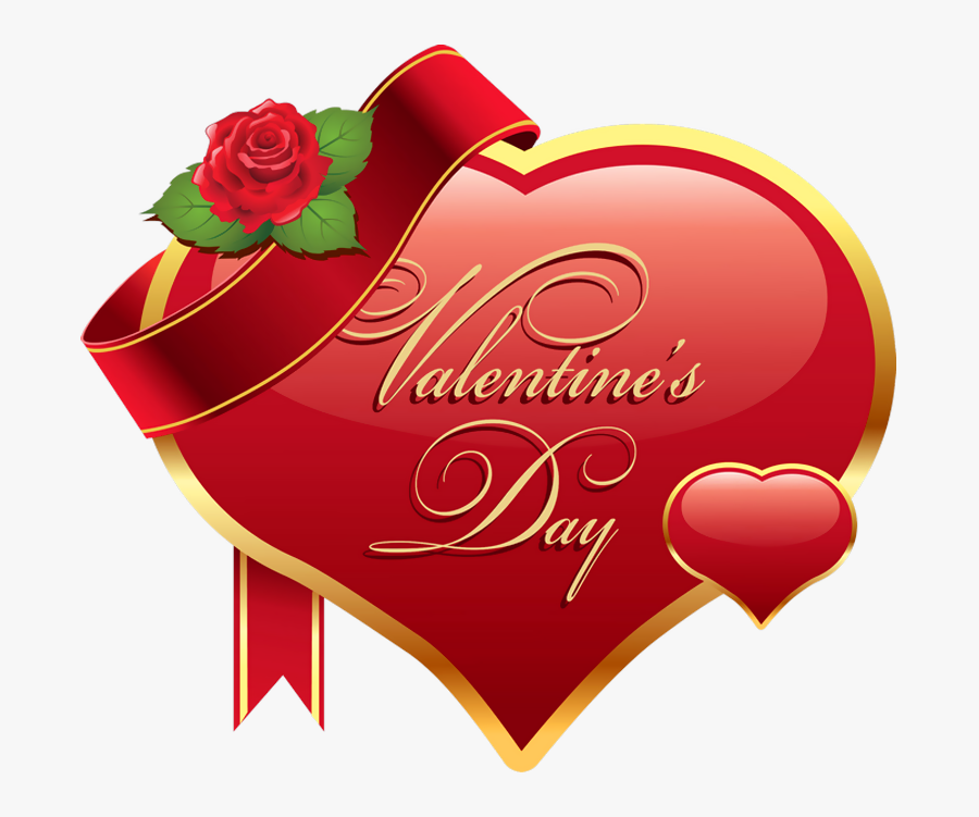 Happy Valentines Day Heart Png, Transparent Clipart