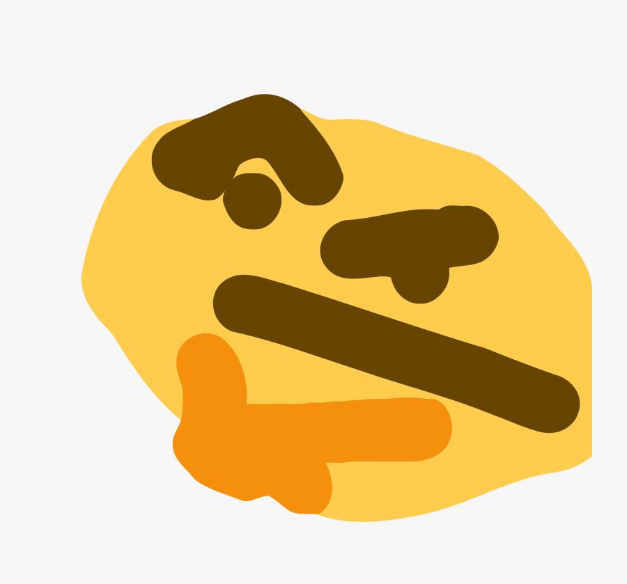 Think Emoji Png - Ms Paint Thinking Emoji, Transparent Clipart