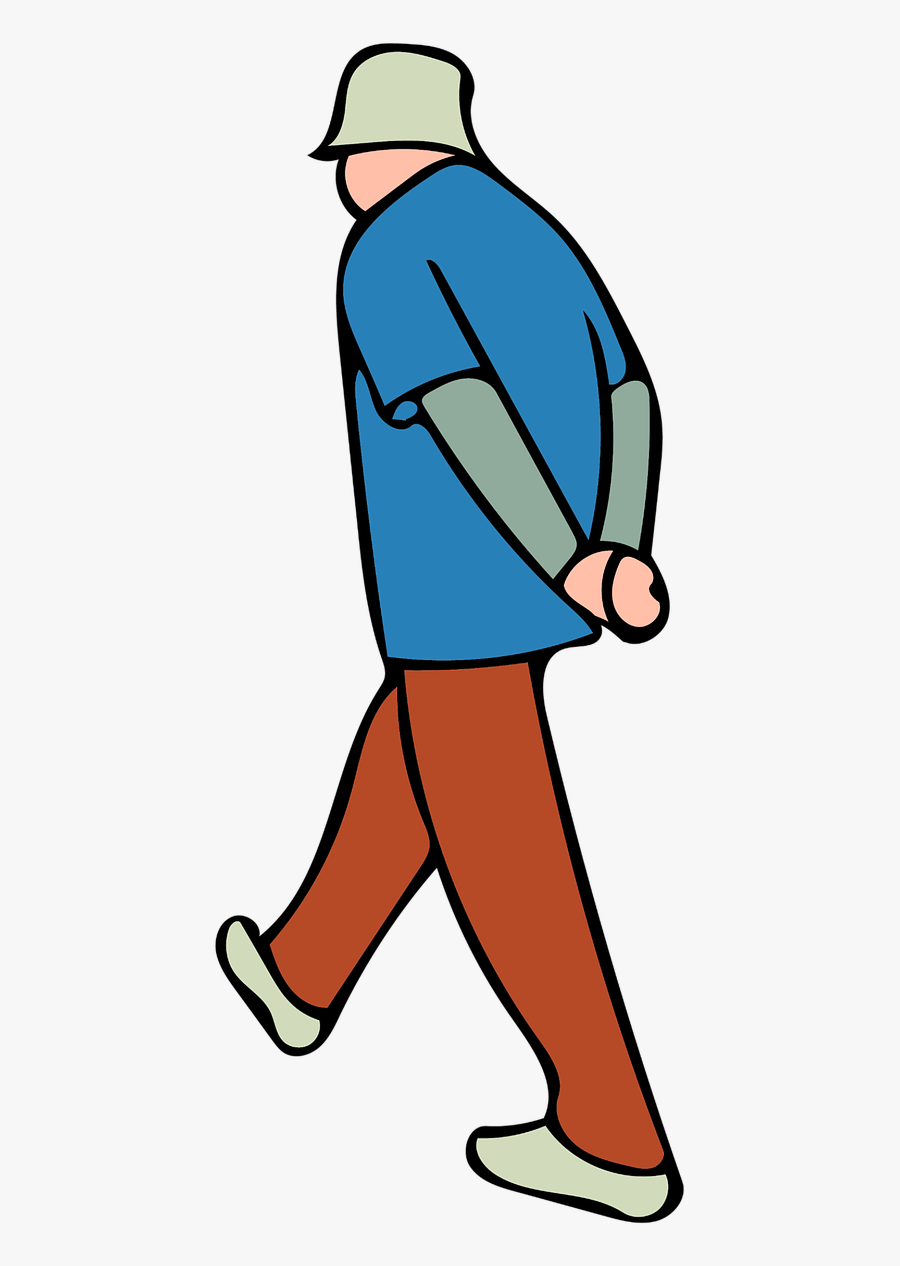 Thinking Clipart Old Man - Free Sticker Walking, Transparent Clipart