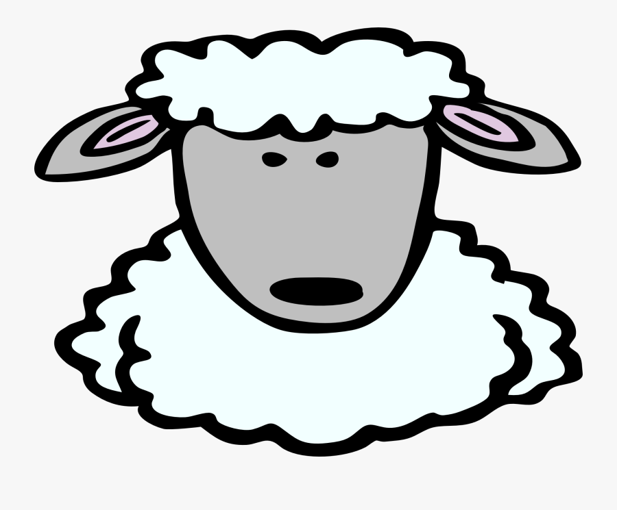 Sheep Clipart Lamb Face - Sheep Head Clip Art, Transparent Clipart