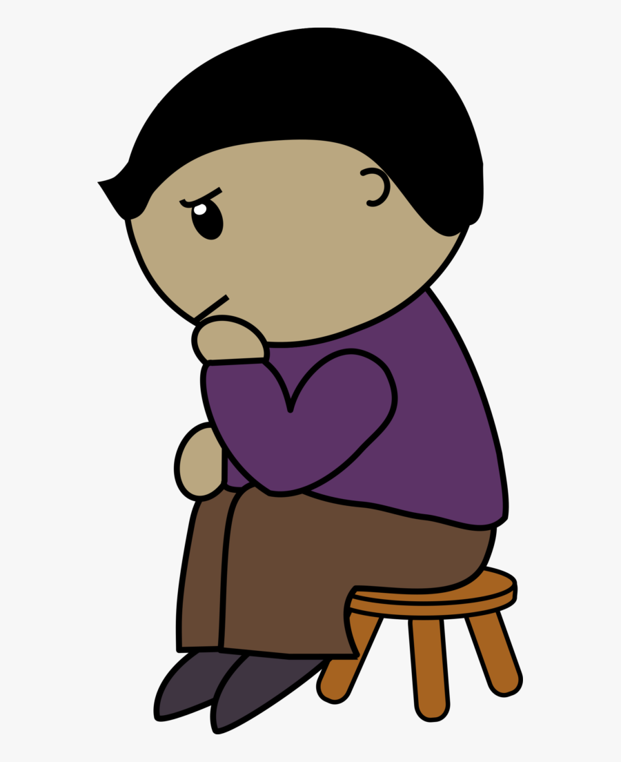 Transparent Man Thinking Png Sit And Think Cartoon Free Transparent Clipart Clipartkey