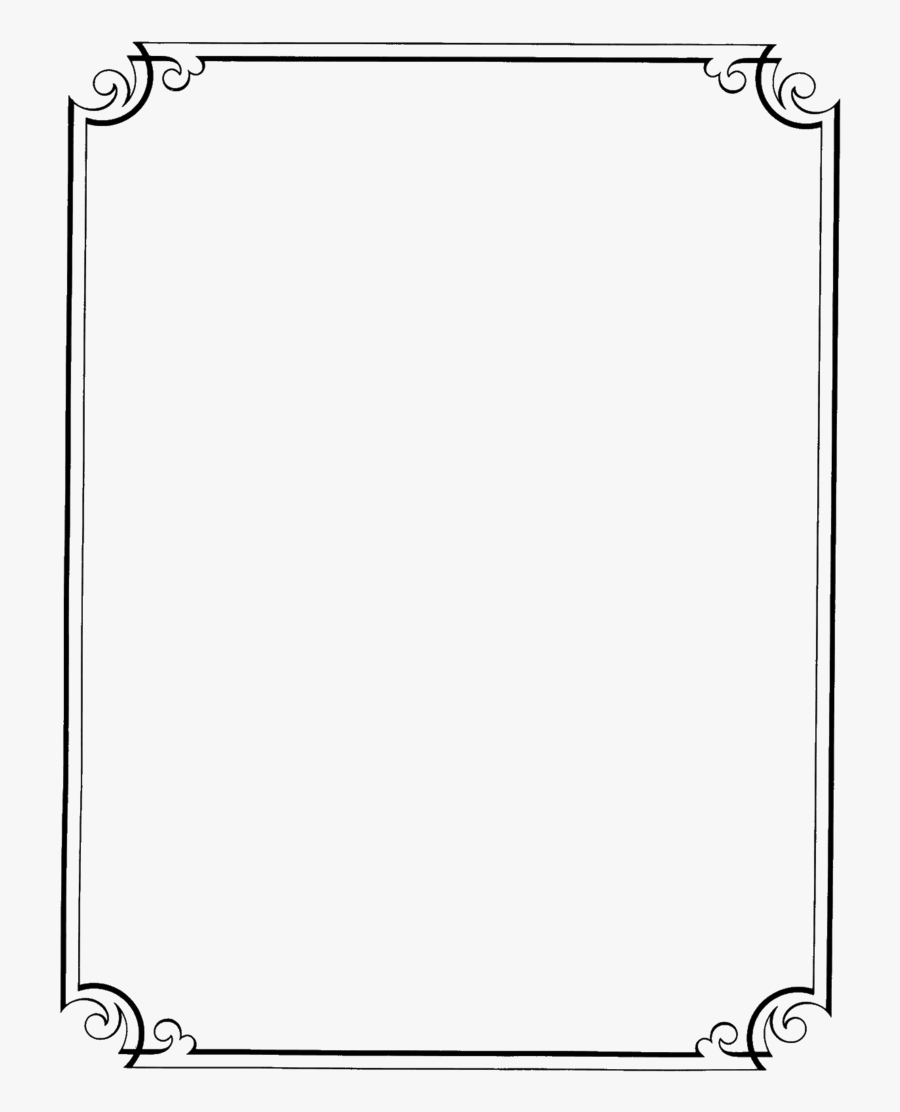 Fancy Page Borders - Simple Outline Designs For Paper ...