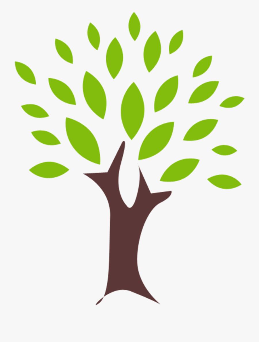 Clip Art Plant Leaves Clipart - Simple Tree Clip Art, Transparent Clipart