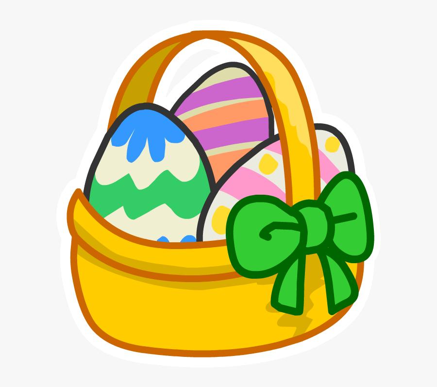 Club Penguin Easter Egg Clipart , Png Download - Easter Egg Basket Cartoon, Transparent Clipart