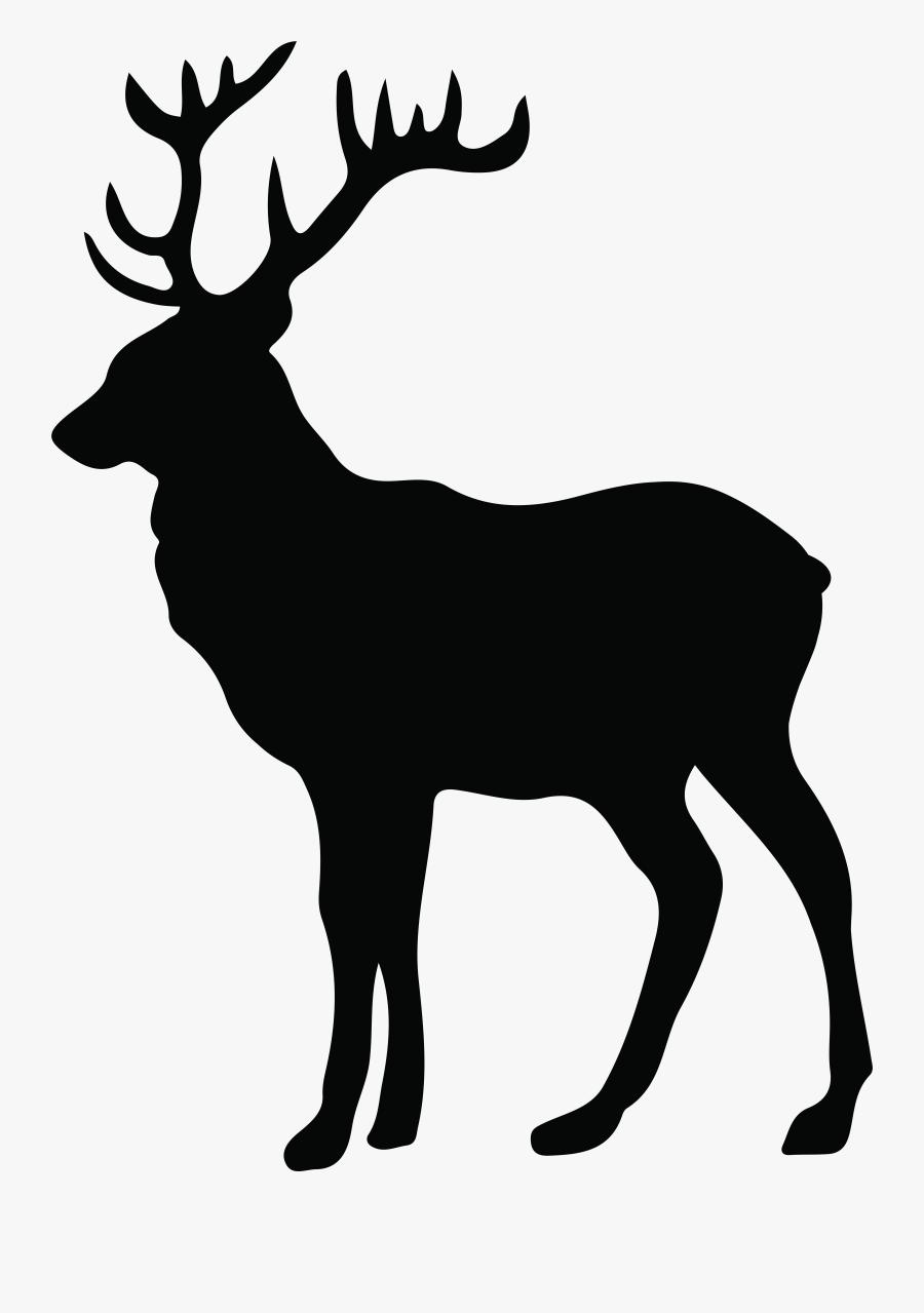Deer Paper Moose Screen Printing Stencil - White Tail Deer Silhouette, Transparent Clipart