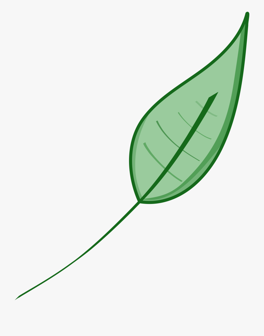 Free Svg Download Clip - Green Leaf Clip Art, Transparent Clipart