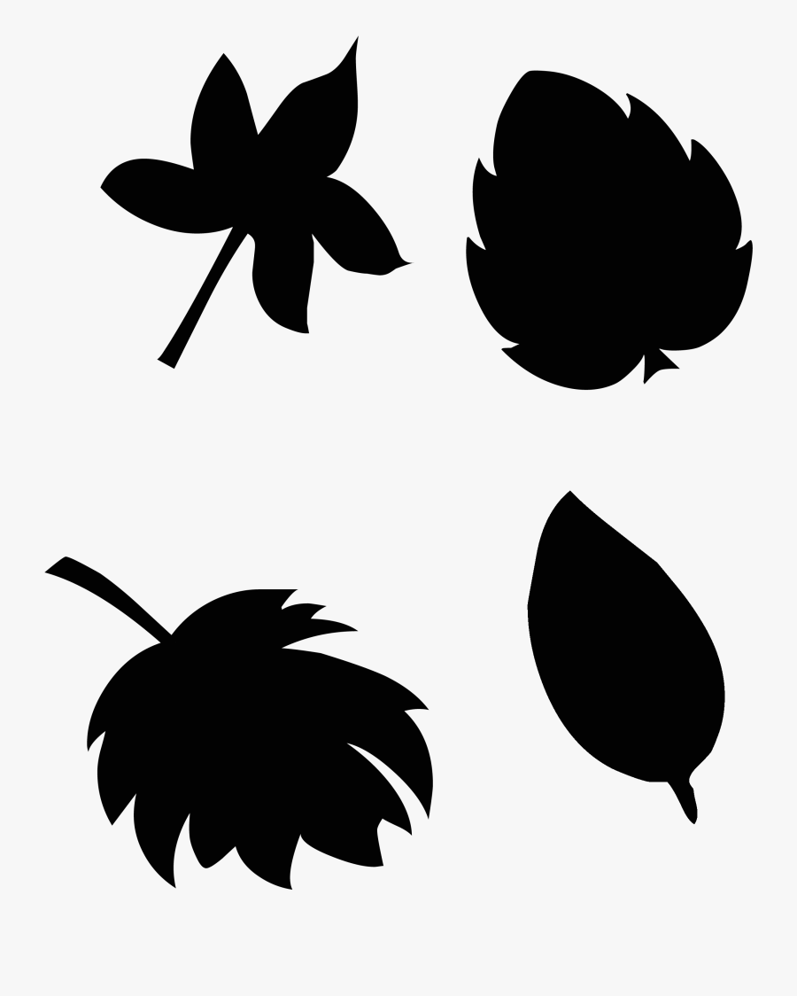 Stained Glass Fall Leaves Silhouette File Sarah Halstead - Fall Leaves Silhouette, Transparent Clipart