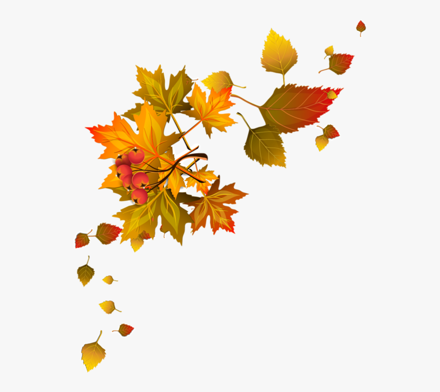 Transparent Fall Leaves Clipart - Fall Leaves Corner Clipart, Transparent Clipart