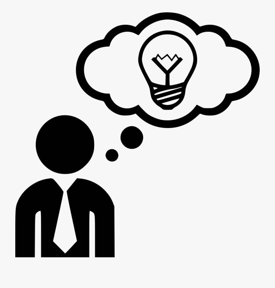 Idea Think Thinking Man Comments - Thinking Png, Transparent Clipart