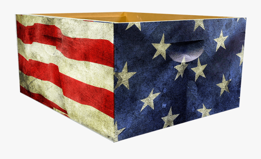 Transparent Distressed American Flag Clipart - American Flag Beehive, Transparent Clipart