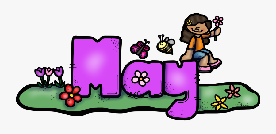 Learning Activities For Kids - May Calendar Topper, Transparent Clipart