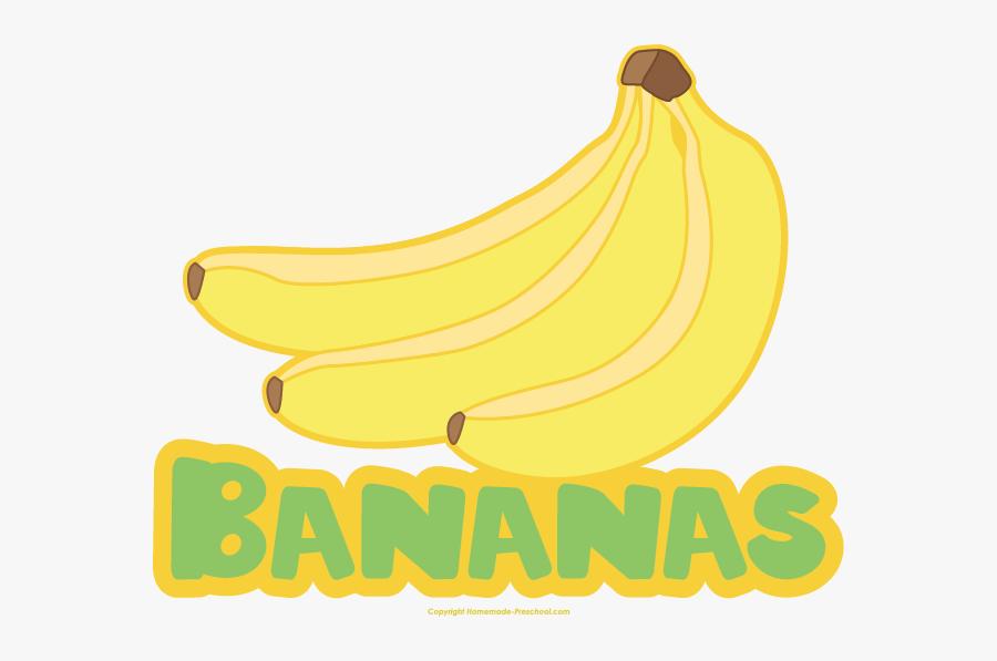 Saba Banana, Transparent Clipart