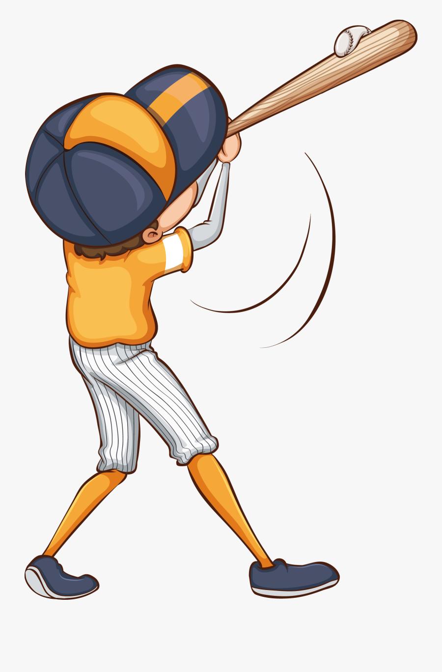 Transparent Bat Clip Art - Simple Drawing Of A Baseball Game, Transparent Clipart