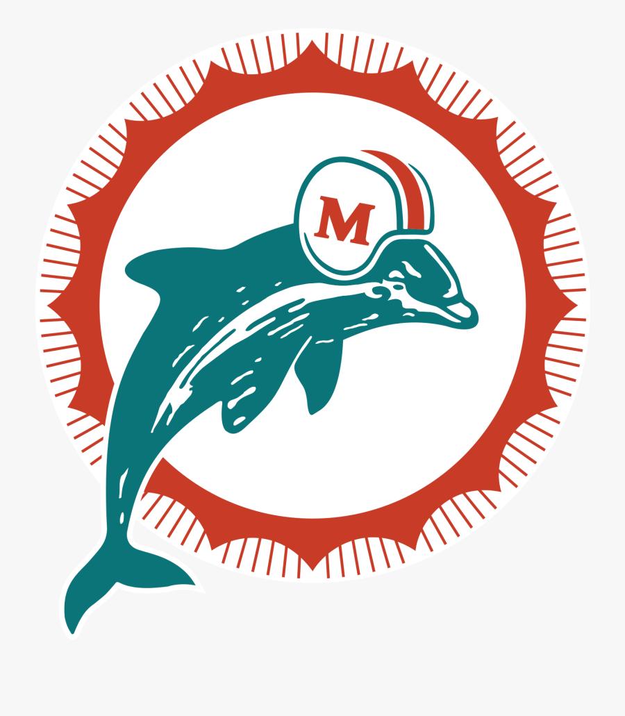 Miami Dolphins Png Miami Dolphins Retro Logo Free Transparent Clipart Clipartkey