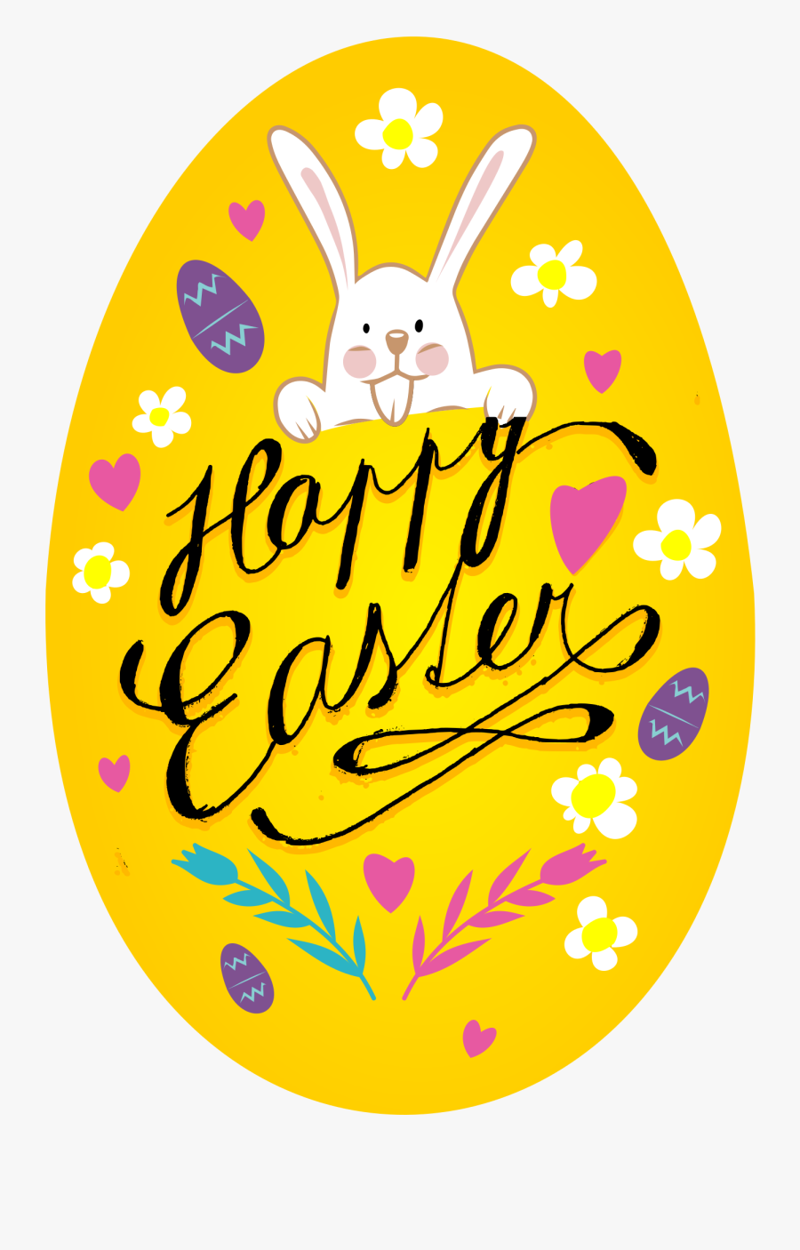 Clipart Happy Easter Egg , Png Download - Happy Easter Bunny Clipart, Transparent Clipart