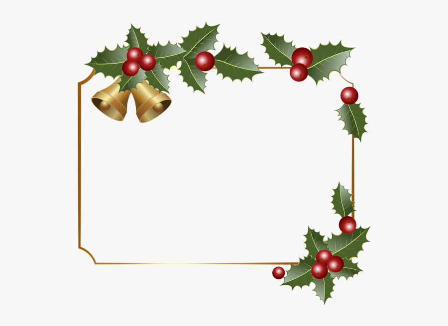 Christmas Borders Christmas Border Decor With Bells - Transparent Christmas Border Clip Art, Transparent Clipart