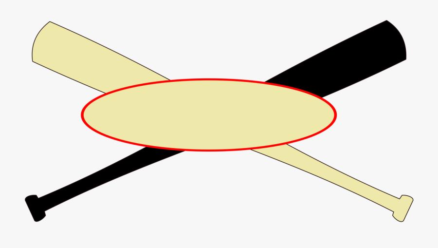 Crossed Baseball Bats - Baseball Bat Base And Ball Logo, Transparent Clipart
