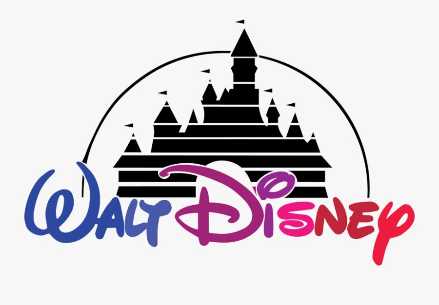 Disney Castle Clipart Walt Disney - Walt Disney Logo Color, Transparent Clipart