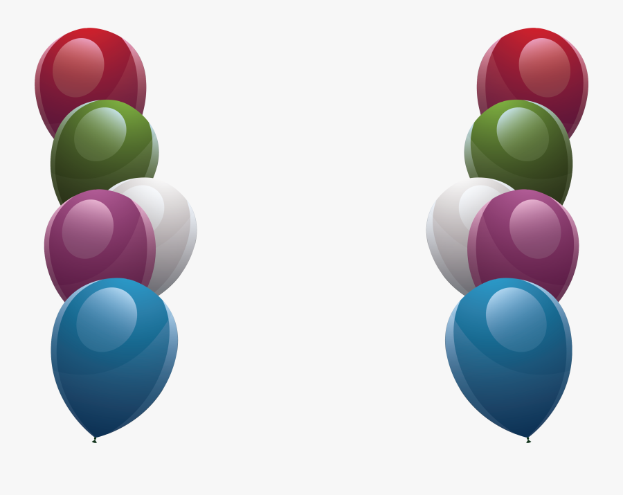 Transparent Colorful Border Clipart - Balloons Designs For Borders, Transparent Clipart
