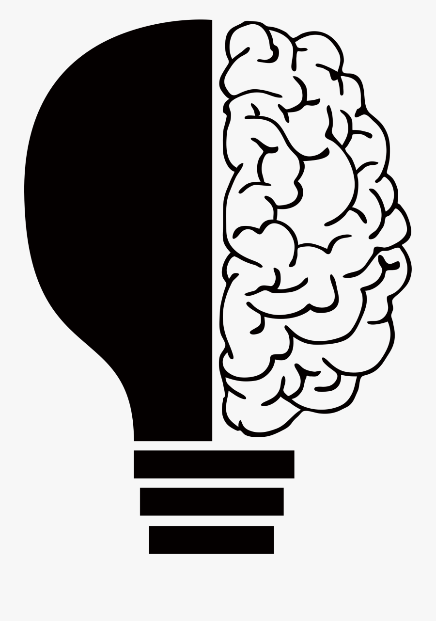 Clipart - Brain And Light Bulb, Transparent Clipart