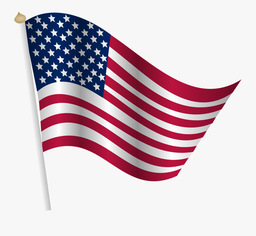 Clip Art Of The United States - 4th Of July Flag Clipart, Transparent Clipart