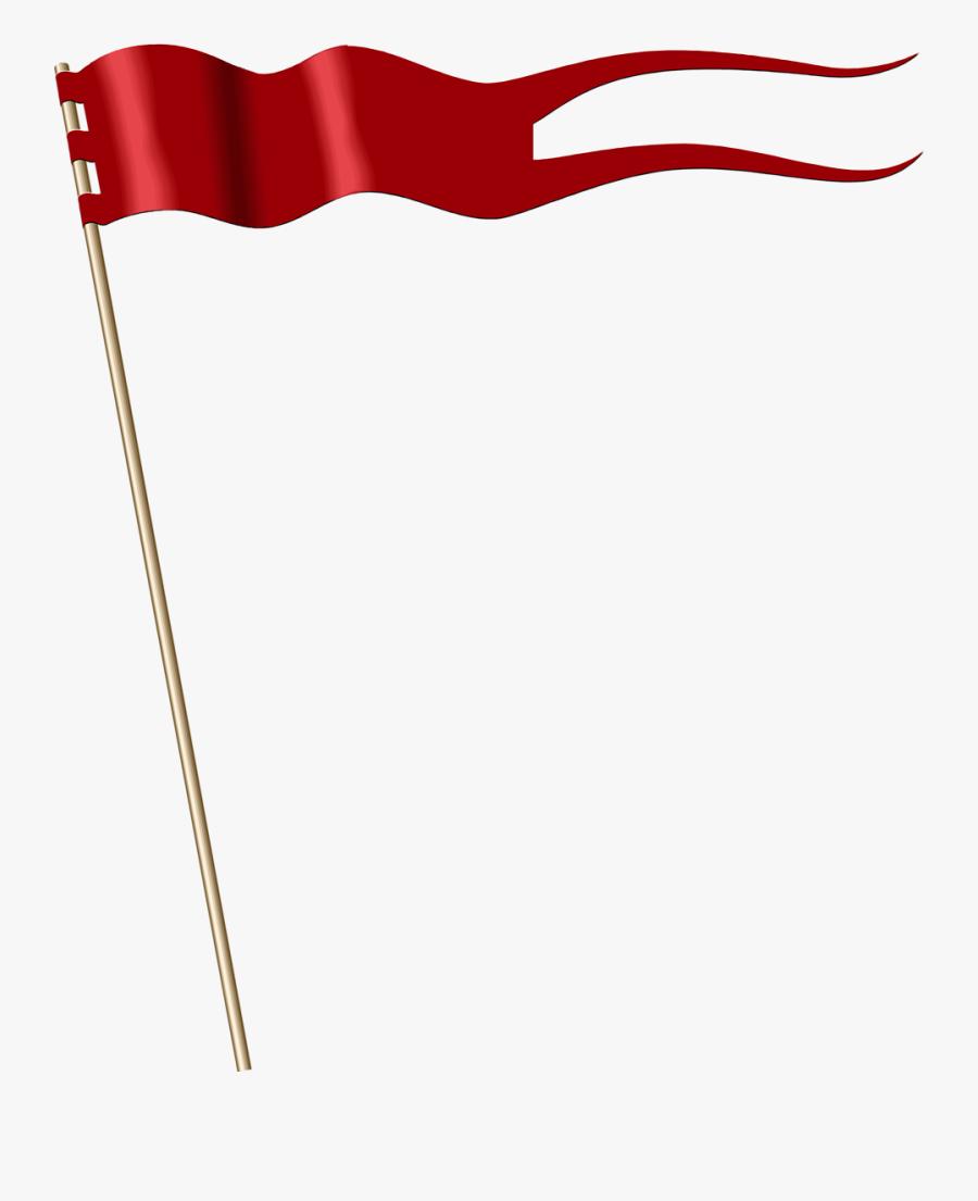 Free Flag Banner Clipart Transparent - Red Banner Flag, Transparent Clipart