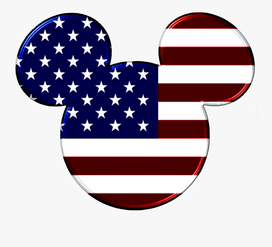 Firework Clipart American Flag - Happy 4th Of July Disney, Transparent Clipart