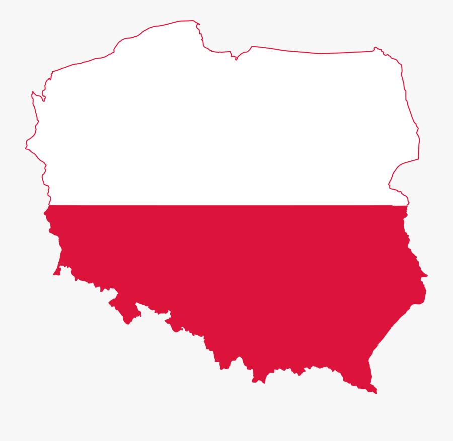Poland Clipart American Flag - Poland Map And Flag, Transparent Clipart
