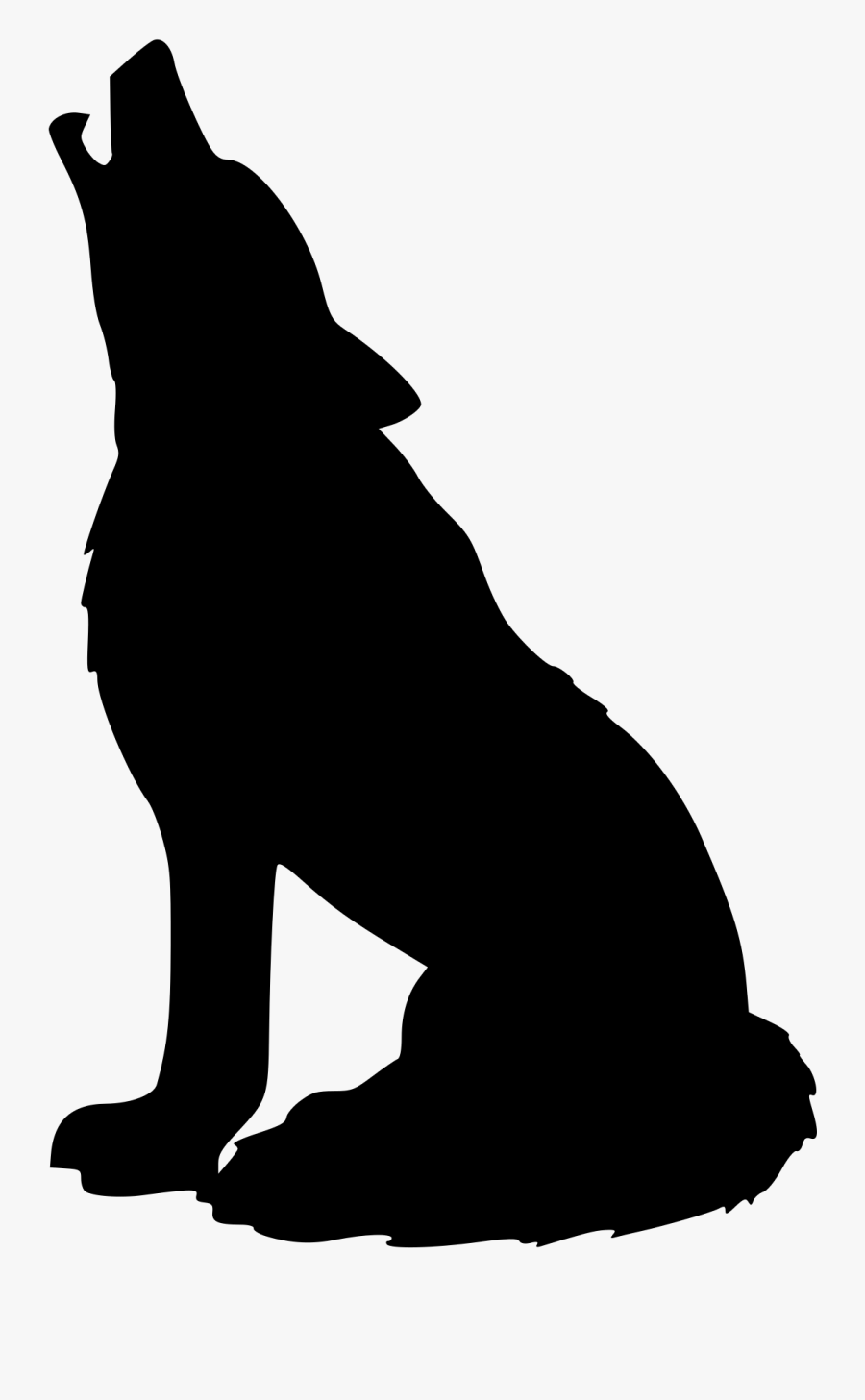 Wolf Clip Art - Wolf Silhouettes, Transparent Clipart