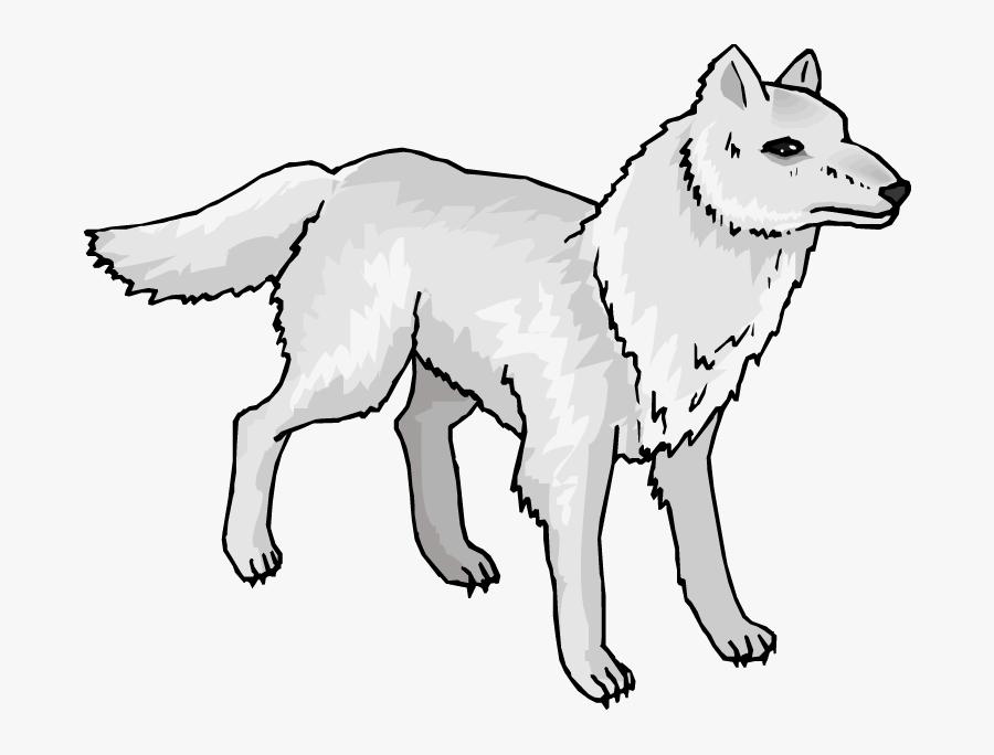 Wolf Vintage Clip Art Wolves - Easy Arctic Wolf Clipart, Transparent Clipart