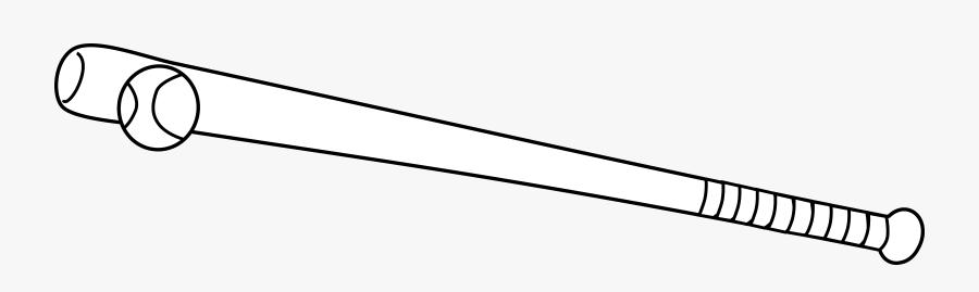 Baseball Bat And Ball Coloring Page - White Baseball Bat Png, Transparent Clipart