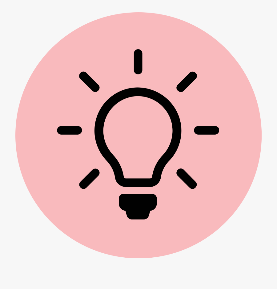 Lightbulb Clipart Pink Pink Light Bulb Icon Free Transparent Clipart Clipartkey