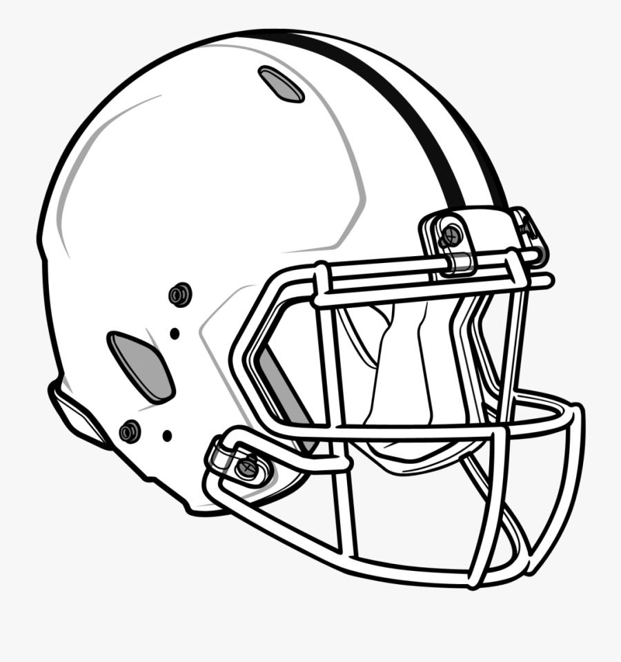 Nfl Football Helmets Coloring Pages - Football Helmet Clipart, Transparent Clipart